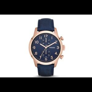 🦋MENS FOSSIL WATCH IN ROSE GOLD🦋